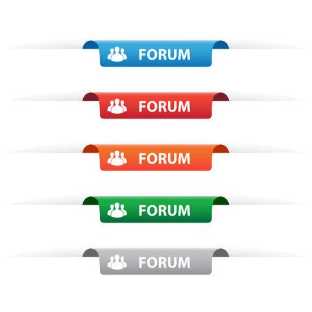 Forum paper tag labels Vector