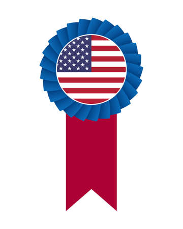4th of July rosette Vector