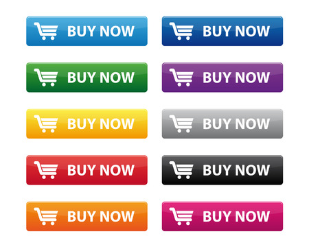 shiny buttons: Buy now buttons Illustration