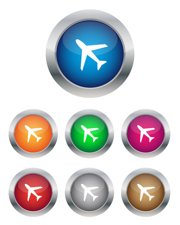 Airplane buttons Vector