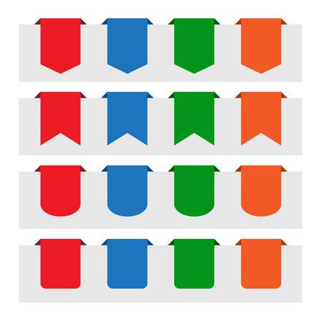 paper tag: Various paper tag labels Illustration