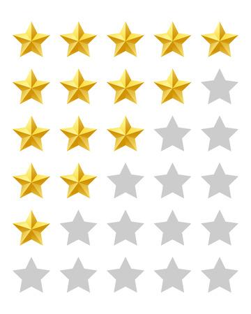 Five stars rating Vector