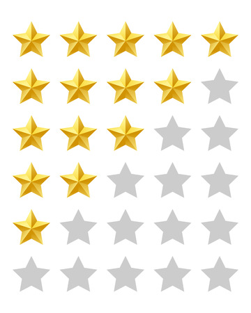 star quality: Five stars rating Illustration