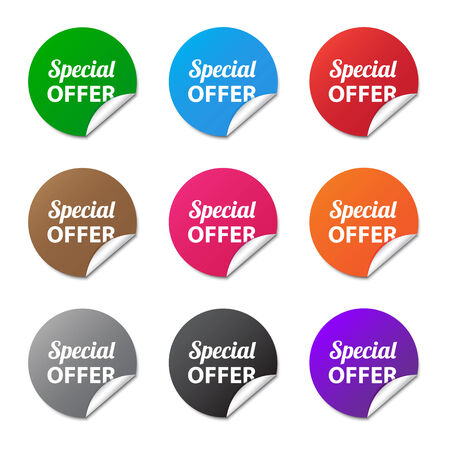 Special offer stickers Vector