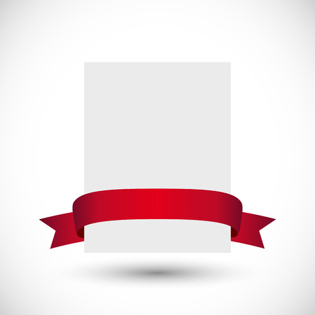 Balnk card with red ribbon Vector