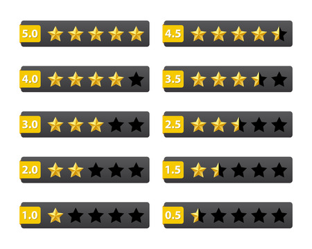 Rating stars buttons Vector