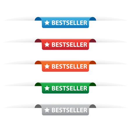 bestseller: Bestseller paper tag labels Illustration