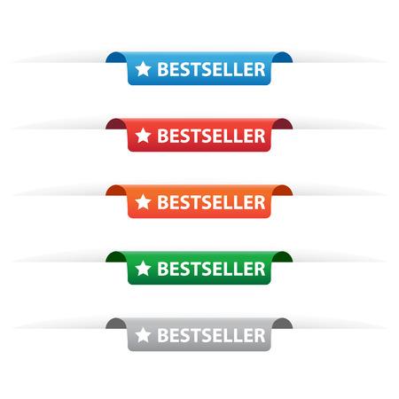 Bestseller paper tag labels Illustration