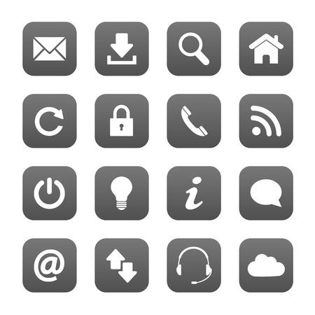 Grey web buttons Illustration
