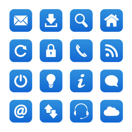 contact us icon: Blue web buttons