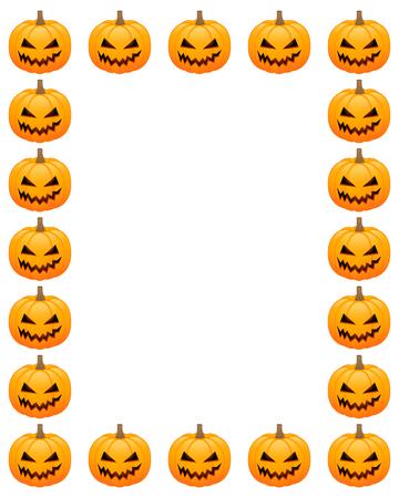 Halloween photo frame Illustration
