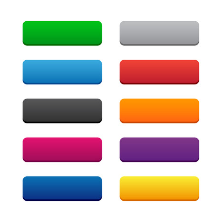 Blank web buttons Vector
