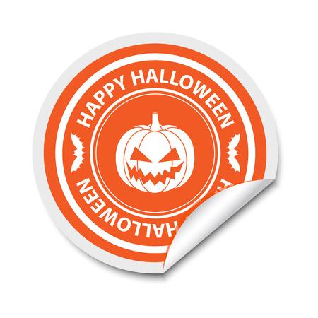Halloween sticker Vector