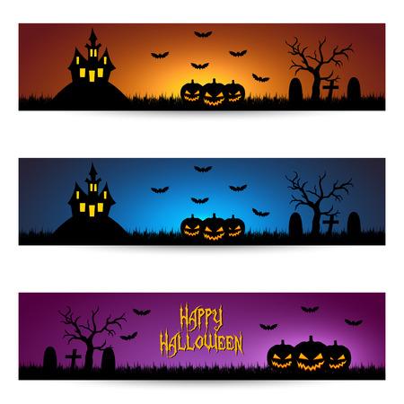 Moonlight lanterns: Banner Halloween