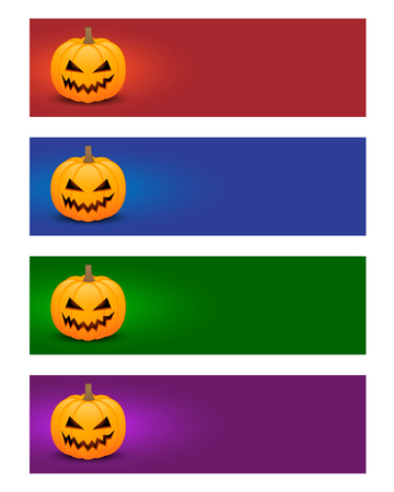 Colorful halloween banners Vector