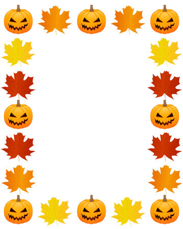 Autumn photo frame Vector