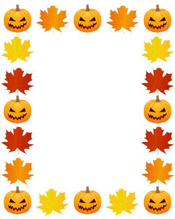 Autumn photo frame Vector