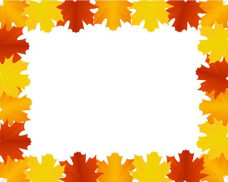 thursday: Autumn leaves border Illustration