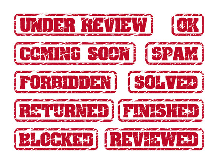 returned: Rubber stamps