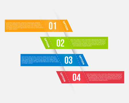 Infographics template with banners Vector