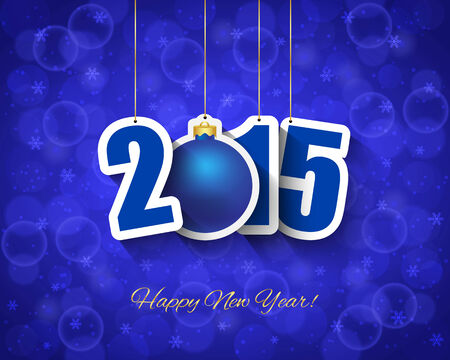 2015 New year background with ball tag Vector