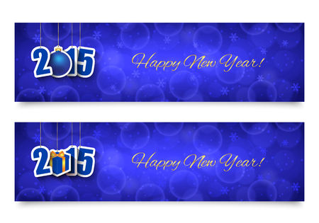 2015 New year banners Vector