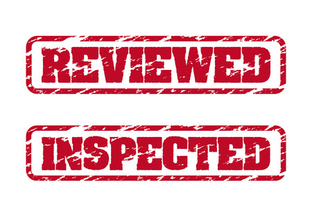 inspected: Reviewed and inspected rubber stamps