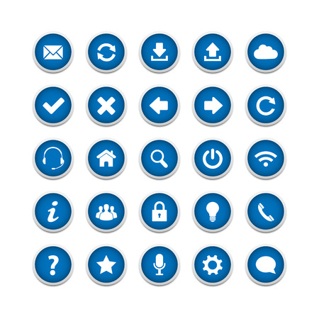 approved button: Blue round web buttons