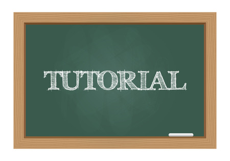 Tutorial text on chalkboard Vector