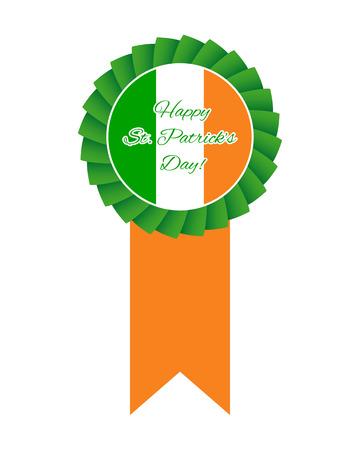 St Patricks day rosette Vector