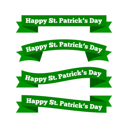 St Patricks day ribbons Stock Vector - 36627159