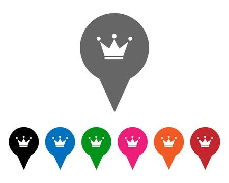 Crown pointers 矢量图像