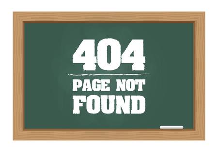 error message: 404 error message on chalkboard