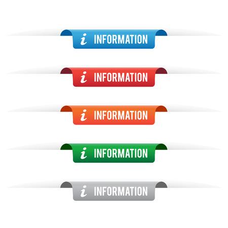 Information paper tag labels 矢量图像