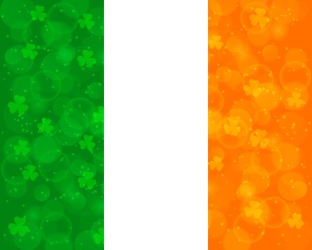 Abstract St Patricks day background with irish flag colors 矢量图像