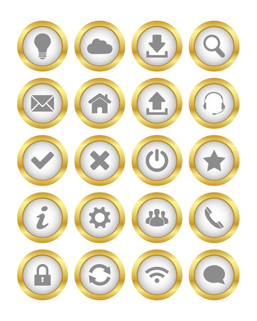 Gold buttons Vector