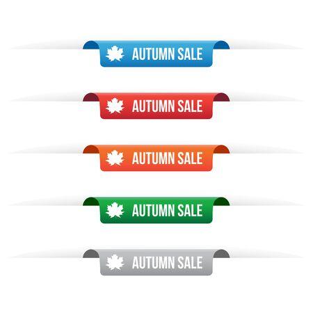 Autumn sale paper tag labels