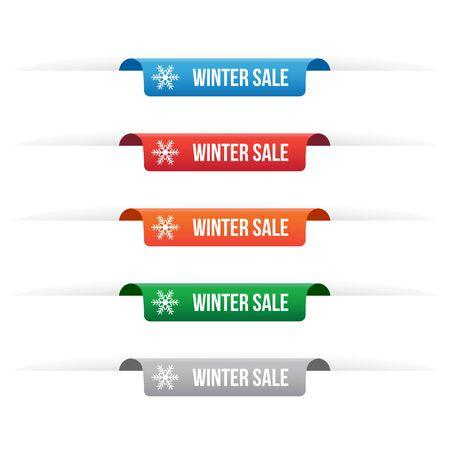 Winter sale paper tag labels