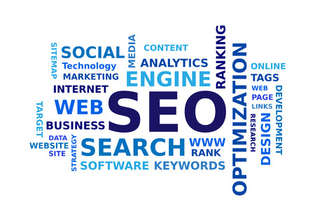 business words: SEO word cloud