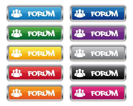 metallic: Forum metallic rechthoekige knoppen