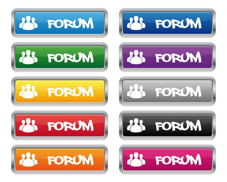 Forum metallic rectangular buttons