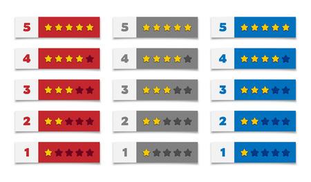 Rating stars 矢量图像