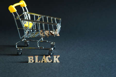Shopping cart and the inscription