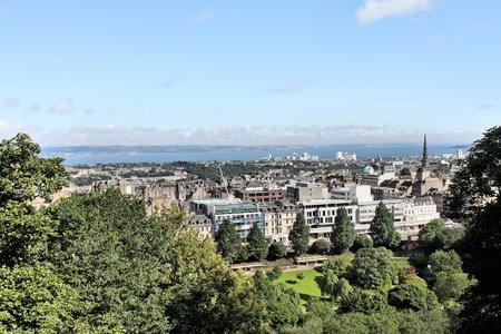 A panoramic view of Edinburgh in Scotland