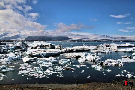 A view of the Jokulsarlon Lagoon in Iceland Reklamní fotografie