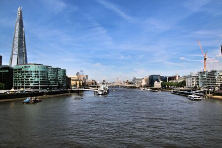 A view of the river Thames in London