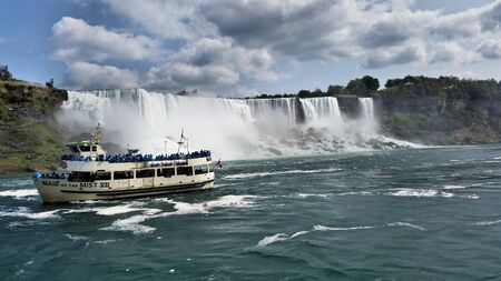 A view of Niagara Falls from the Canadian side