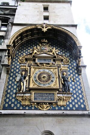 A view of the Clock on the side of the Musee d'Orsay