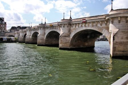 A view of the Pont Neuf Bridge in Paris