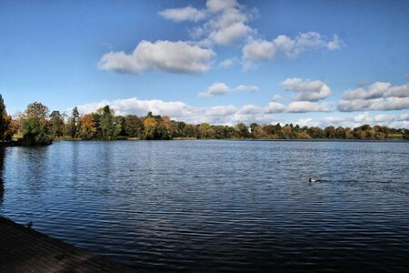 A view of the Mere at Ellemere in Shropshire